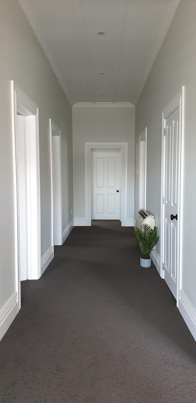 california bungalow hallway